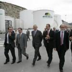 Imagen de la inauguración de la planta de biodiésel en Ferrol