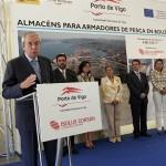 Emilio Pérez Touriño en la inauguración de las naves