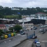 Vista de la situación actual de la nave de O Gorxal