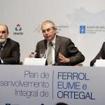 Touriño presentando los primeros resultados del Plan Ferrol
