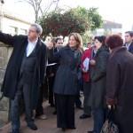 Teresa Táboas en su visita a Tomiño