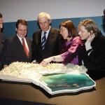 Touriño en la firma del convenio para la cesión de los terrenos de la Ciudad del Mar