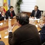 Los representantes de la Xunta, Igape y Aclunaga en la reunión del 16 de febrero
