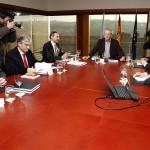 Touriño en la reunión con los representantes de Citröen