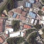 Vista aérea del polígono de O Rebullón, Mos